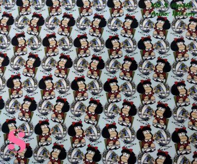 6-tejidos-estampados-de-algodón,-telas-frikis,telas-estampadas-de-moda,Tejido Estampado Mafalda