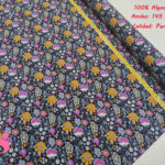 643-flor-de-london-fondo-negro-tejidos-algodón-estampado-percal,Tejido Estampado Flor London fondo Oscuro