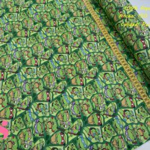 650 Tejido Estampado Las Tortugas Ninja