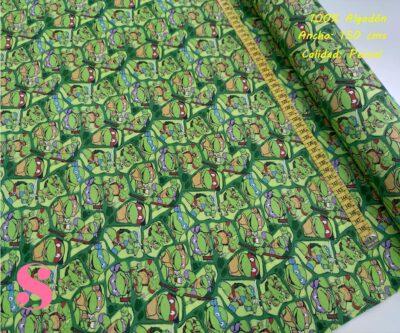 650-las-tortugas-ninja-tejidos-algodón-estampado-percal,telas frikis,estampados frikis,Tejido Estampado Las Tortugas Ninja