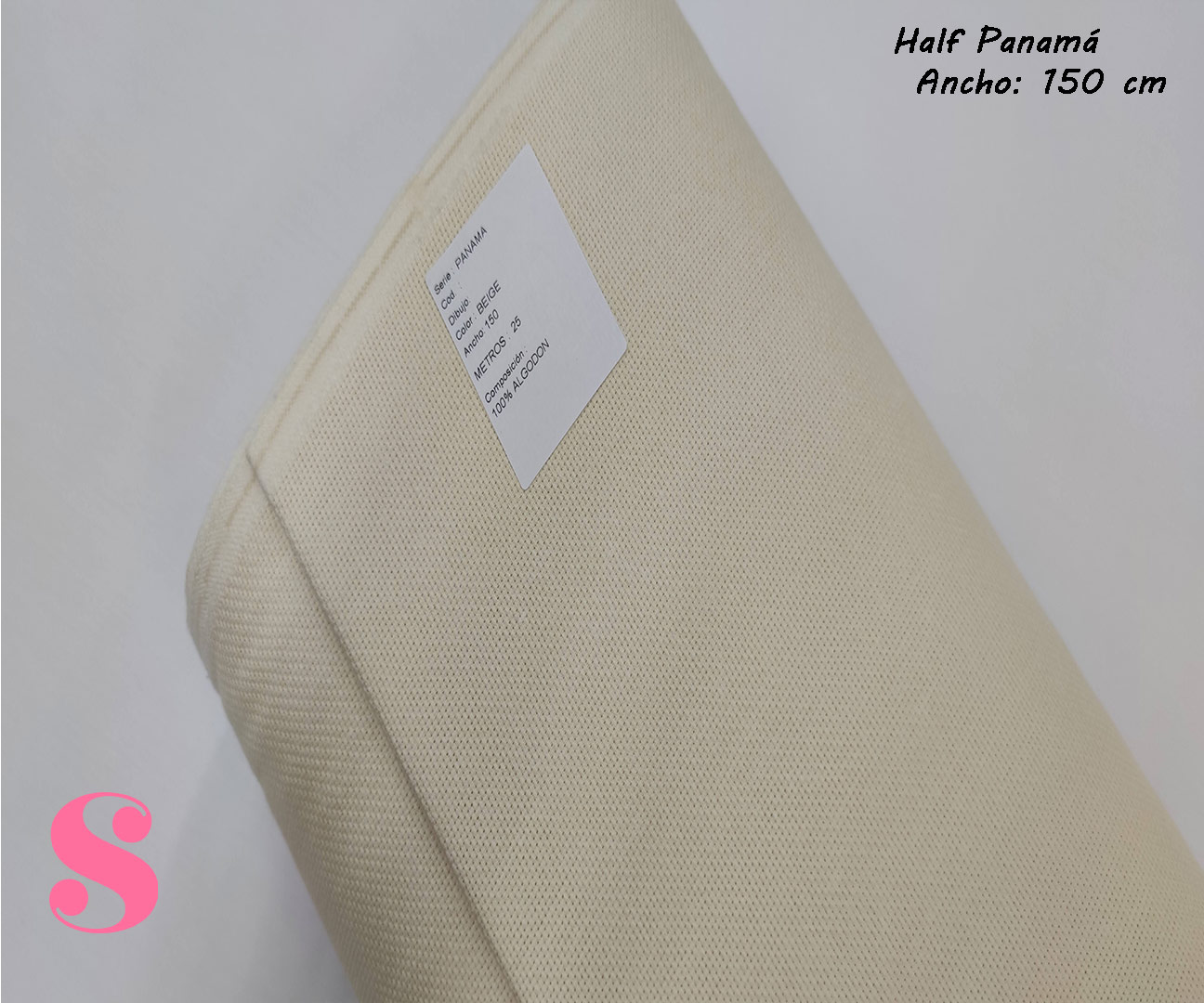 beige-mantel-half-panama-antimanchas-navidad-algodon, Tejido Panamá Beige