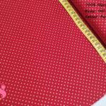 644-lunares-dorados-fondo-rojo-tejidos-algodón-estampado-percal,Tejido Estampado Navidad Topos Dorados