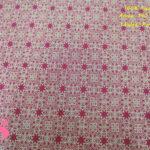 638-mosaico-fondo-rojo-tejidos-algodón-estampado-percal,Tejido Estampado Dorado Navideño fondo Rojo