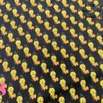 646-piolin-canario-tejidos-algodón-estampado-percal,tejidos estampados originales,telas frikis,Tejido Estampado Piolín