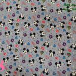 3-telas-disney,telas-mickey-mouse-originales,telas-frikis,estampados-frikis,estampados-retro,Tejido Estampado Patch Americano Mickey Mouse