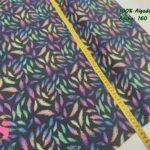 22-algodones-estampados,telas-estampadas,tejidos-estampados-de-algodon,Tejido Estampado Plumas fondo Negro