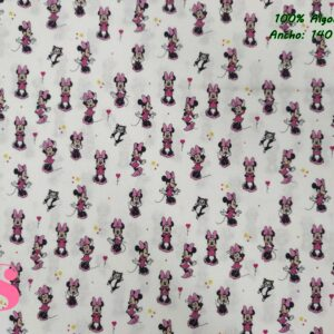 673 Tejido Estampado Patch Americano Minnie Presumida