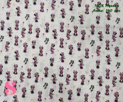 25-telas-frikis,tejidos-estampados-disney,estampados-disney,telas-originales,camelot-fabrics,Tejido Estampado Patch Americano Minnie Presumida