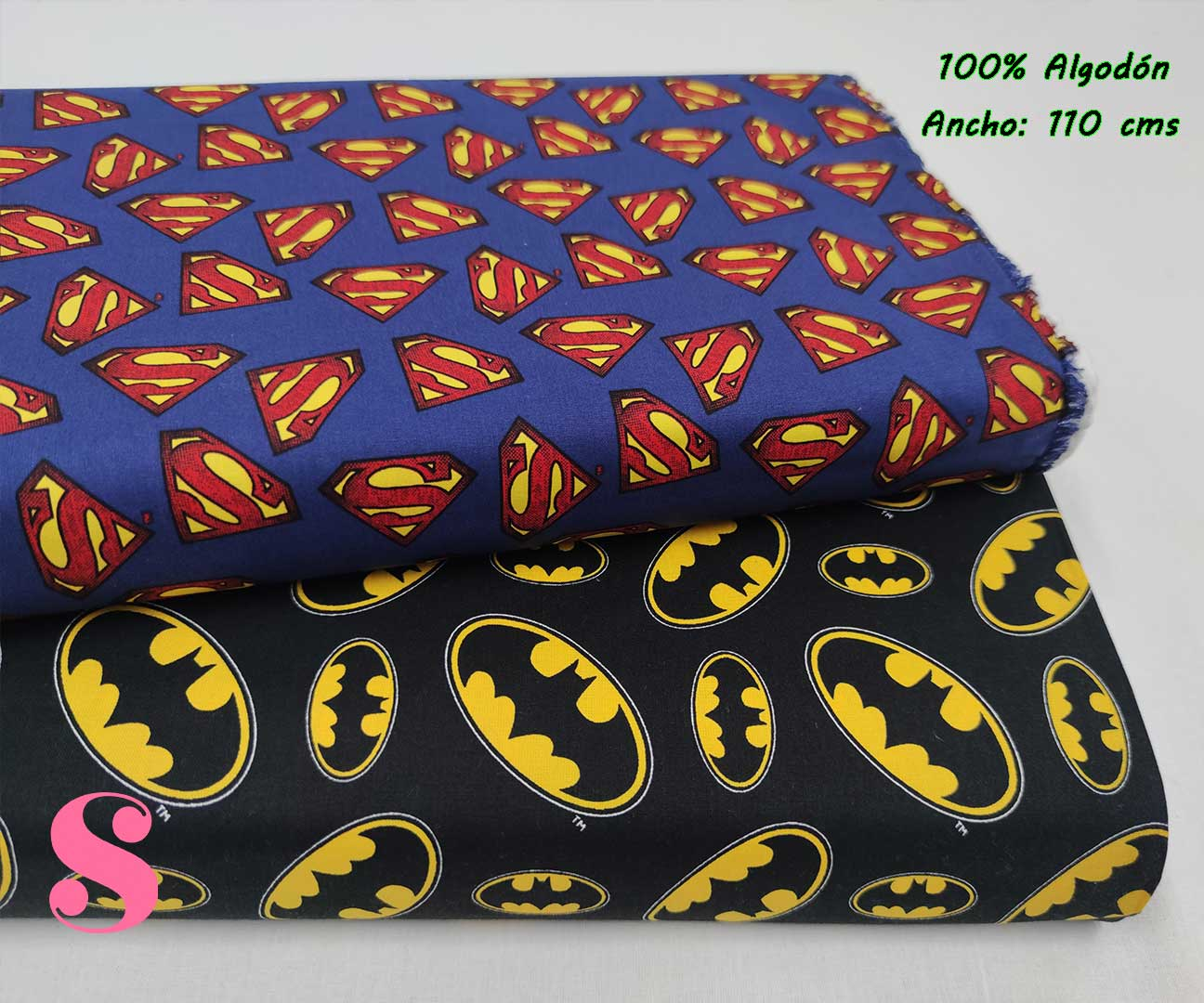 31-telas-marvel-originales,telas-frikis,estampados-frikis,estampados-marvel-originales,Tejido Estampado Patch Americano Batman Logotipo Fondo Negro,Tejido Estampado Patch Americano Superman Logotipo Fondo Azul,Tejido Estampado Patch Americano Superman Logotipo Fondo Negro