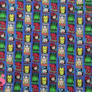 680 Tejido Estampado Patch Americano Marvel Comic Cuadrados