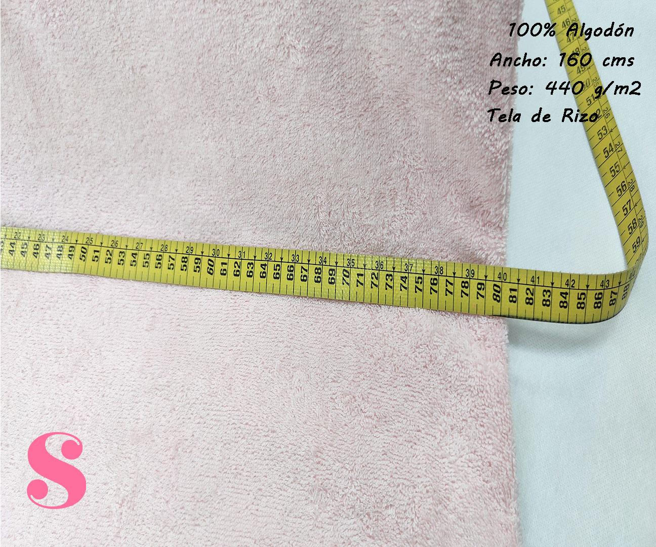 tela-rizo-algodón-confencción-toallas-albornoces-playa-ribete,Felpa de Rizo Americano Rosa