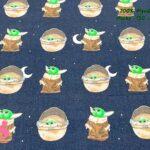 12-telas-frikis,estampados-frikis,telas-yoda,tejido-estampado-stars-wars,Tejido Estampado Mini Yoda
