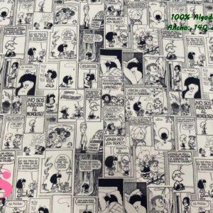 723 Tejido Estampado Mafalda Tebeo