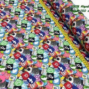 698 Tejido Estampado Redes Sociales
