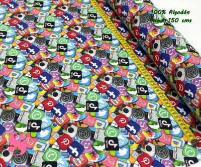 20-telas-frikis,estampados-frikis,telas-tik-tok,telas-you-tuve,telas-whatsapp,telas-facebook,Tejido Estampado Redes Sociales