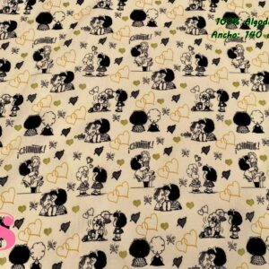 724 Tejido Estampado Mafalda Love