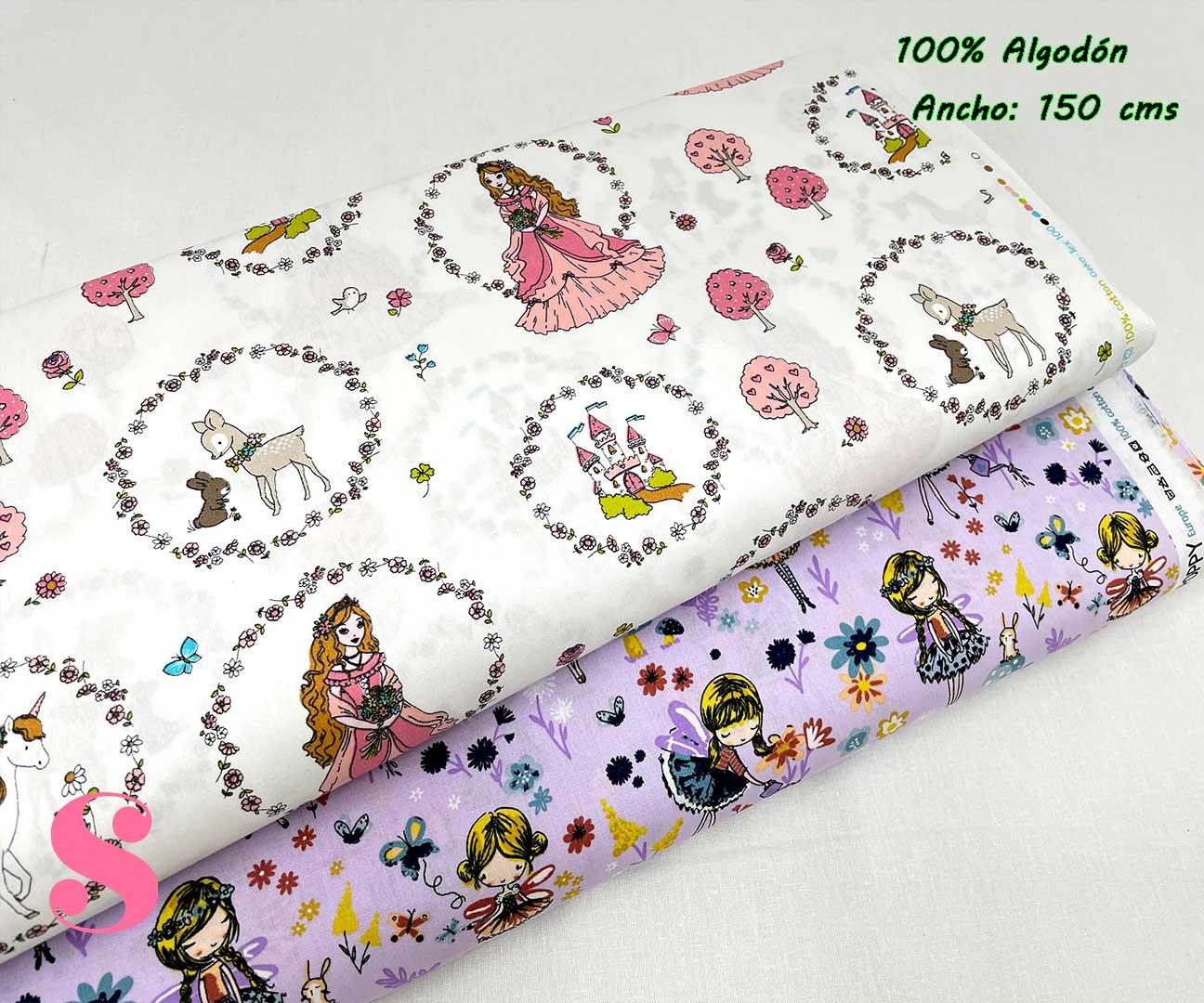 34-tela-estampada-princesas,telas-infantiles,tejidos-infantiles,Tejido Estampado Pretty Princess