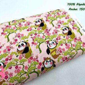 706 Tejido Estampado Kung Fu Panda Sakura