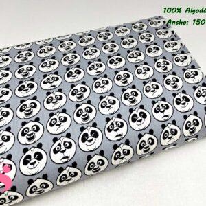 707 Tejido Estampado Kung Fu Panda Caras