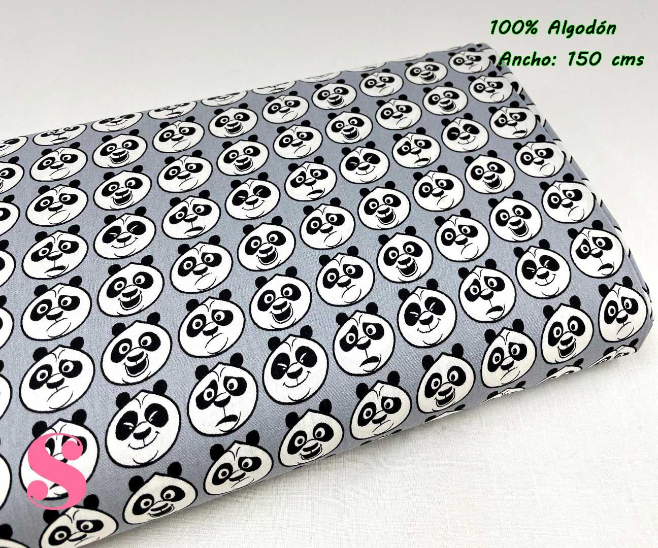 39-tela-estampada-kung-fu-panda,telas-dibujos-animados-frikis,telas-infantiles,tejidos-infantiles,Tejido Estampado Kung Fu Panda Caras