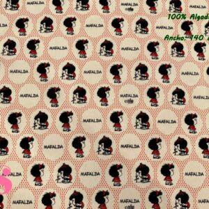 725 Tejido Estampado Mafalda Lunares
