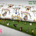 41-tela-estampada-madagascar,telas-dibujos-animados-frikis,telas-infantiles,tejidos-infantiles,Tejido Estampado Madagascar Circus,Tejido Estampado Madagascar Green