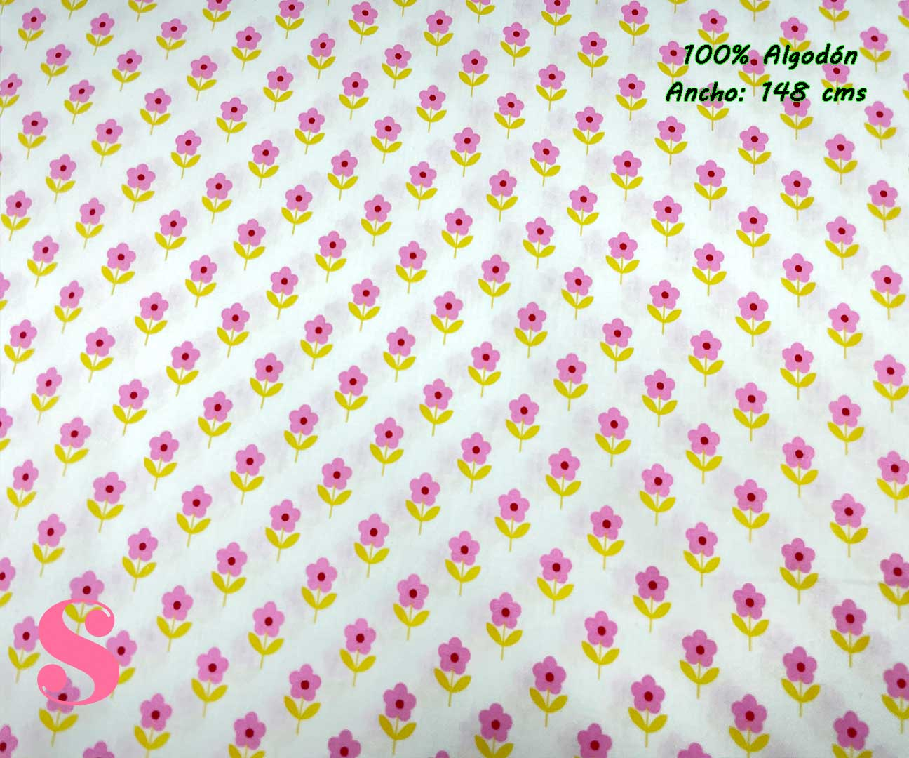 54-tela-estampada-flores,telas-dibujos-primaverales,telas-infantiles,tejidos-infantiles,Tejido Estampado Flower Power