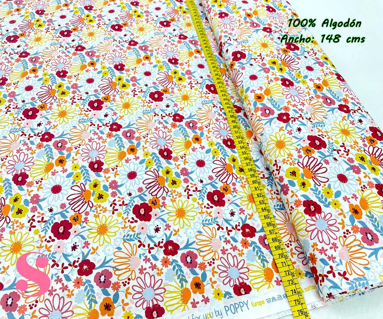 56-tela-estampada-flores,telas-dibujos-primaverales,telas-infantiles,tejidos-infantiles,Tejido Estampado Mix Flowers