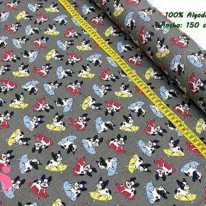 699 Tejido Estampado Bulldog Skater