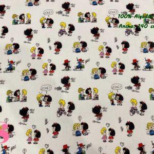 722 Tejido Estampado Mafalda y Amigos
