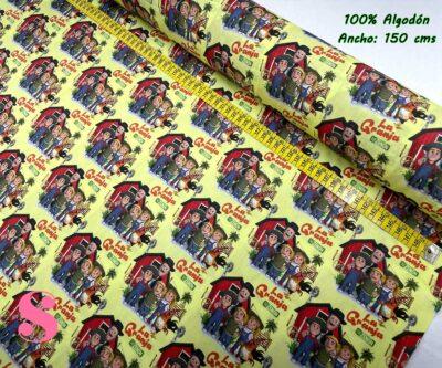 7-telas-frikis,estampados-frikis,telas-infantiles,estampados-infantiles,telas-dibujos,Tejido Estampado La Granja de Zenon