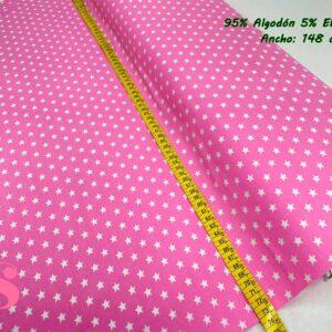 773 Punto Camiseta Jersey Estampado Estrellas fondo Fucsia