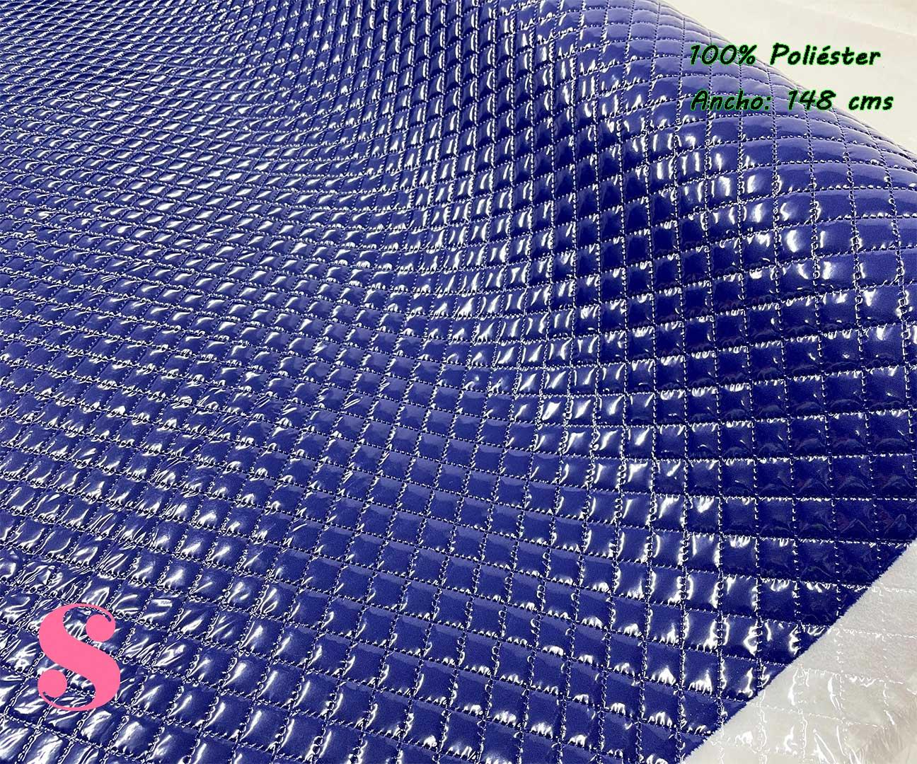 1-telas-plastificadas,tejidos-plastificados,tejidos-impermeables,telas-para-neceseres,telas-para-bolsos,Acolchado Plastificado Azul