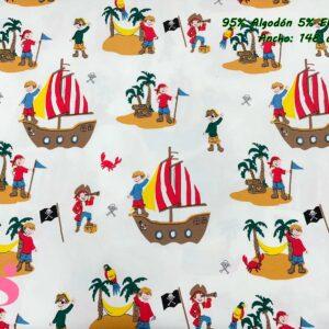 776 Punto Camiseta Jersey Estampado Piratas fondo Blanco