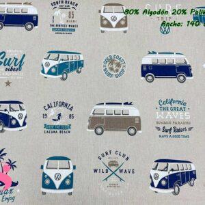 757 Half Panamá Wolkswagen California Surf Azul