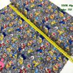14-telas-estampadas-calaveras,tela-estampado-catrinas,telas-calaveras-mejicanas-de-algodón,telas-de-moda,Tejido Estampado Patch Americano Villanos Super Mario