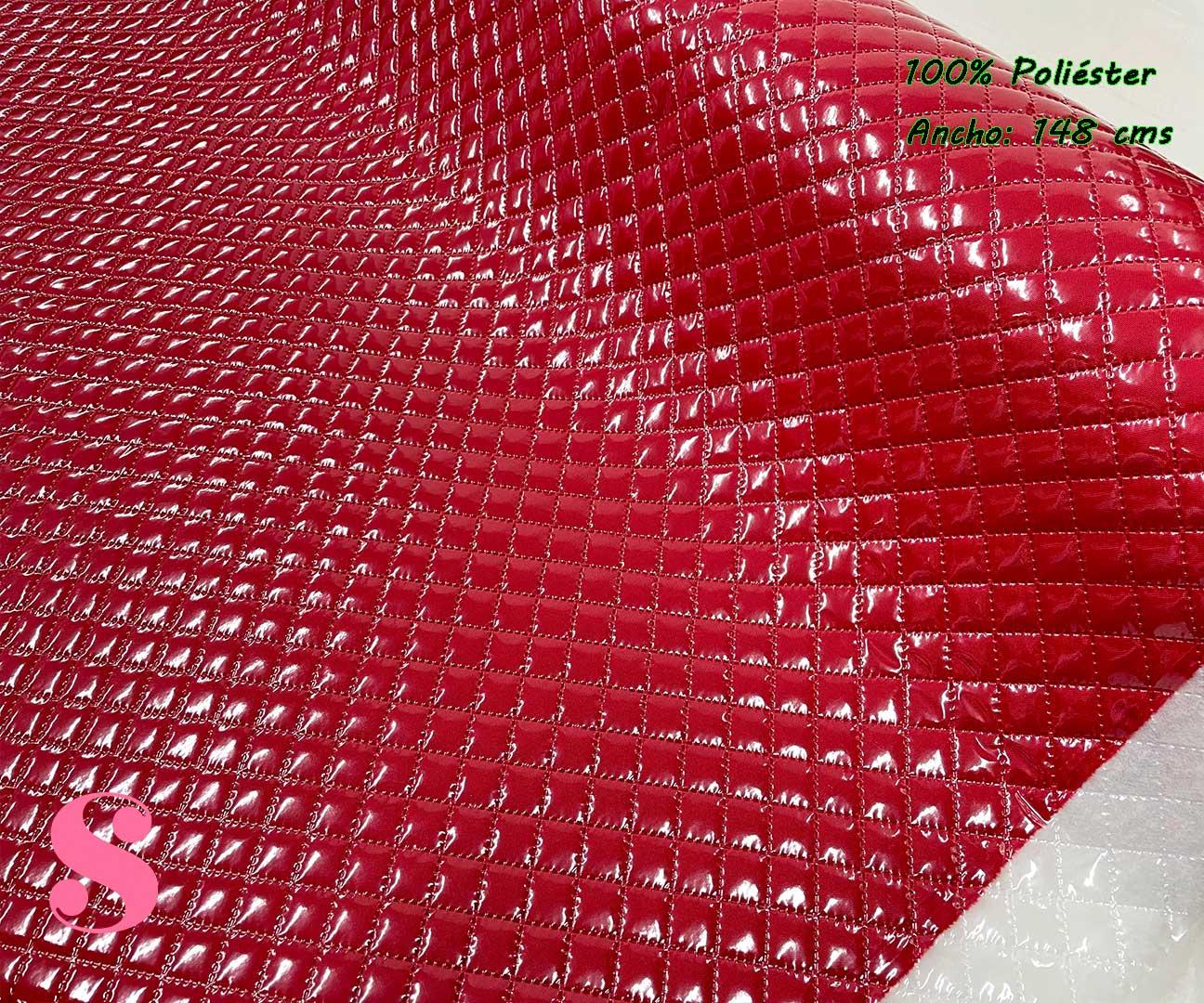 2-telas-plastificadas,tejidos-plastificados,tejidos-impermeables,telas-para-neceseres,telas-para-bolsos,Acolchado Plastificado Rojo