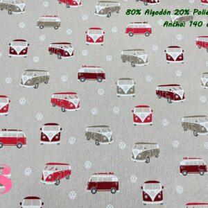 759 Half Panamá Furgoneta Wolkswagen Roja & Granate