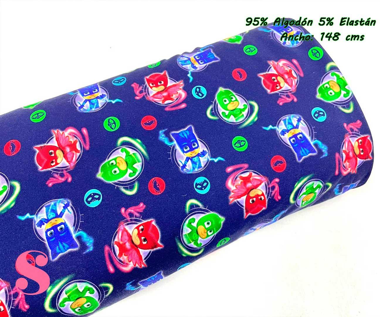 28-telas-de-punto-estampadas,punto-camiseta-estampado,punto-sudadera-estampado,french-terry-estampado,Punto Sudadera French Terry PJ Masks