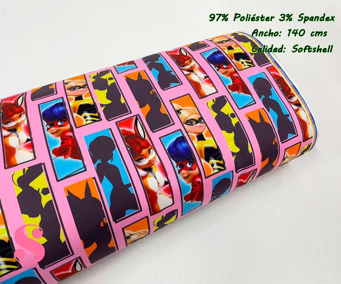 31-telas-impermeables-estampadas,softshell-estampado,telas-lady-bug,estampado-ladybug,SoftShell Estampado Ladybug