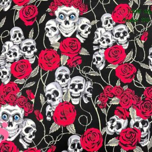 785 Patch Americano Rose & Hubble Rosas y Calaveras