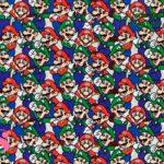 6-estampados-originales,telas-con-estampados-originales,telas-frikis,estampados-frikis,telas-super-mario,Tejido Estampado Patch Americano Mario y Luigi
