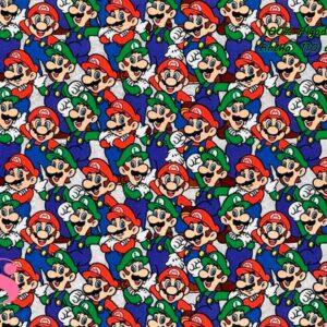 765 Tejido Estampado Patch Americano Mario y Luigi