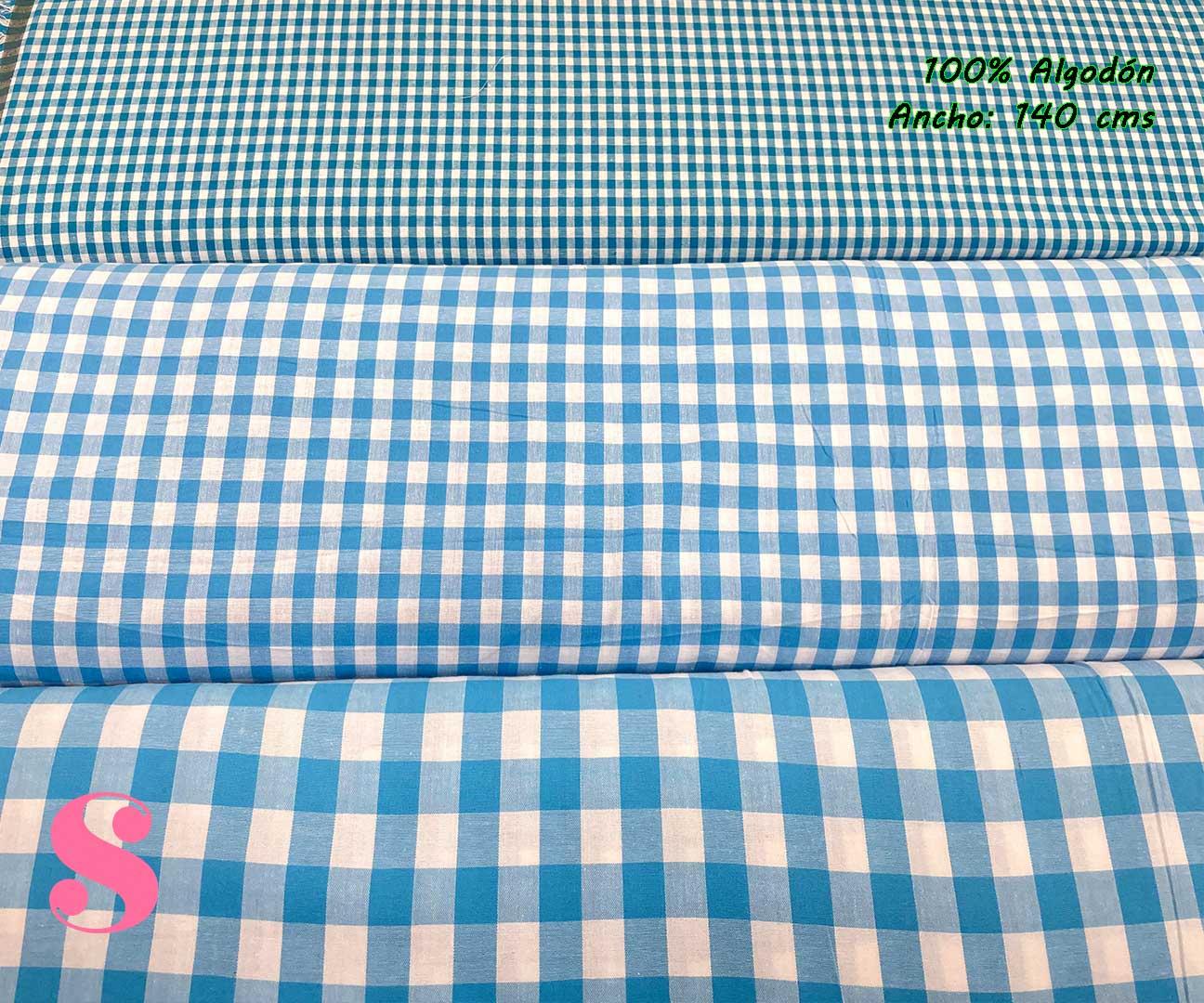 20-telas-de-algodón-100%,telas-infantiles,estampados-infantiles,telas-para-bebes,Vicky Algodón Cuadros Azul 5 Milímetros,Vicky Algodón Cuadros Azul 1 Centímetro