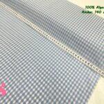 27-telas-de-algodón-100%,telas-infantiles,estampados-infantiles,telas-para-bebes,Vicky Algodón Cuadros Celeste 5 Milímetros