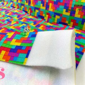 805 Foam Algodón Estampado Tetris