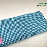 20-telas-de-algodón-100%,telas-infantiles,estampados-infantiles,telas-para-bebes,Vicky Algodón Cuadros Azul 5 Milímetros