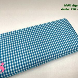 791 Vichy Algodón Cuadros Azul 5 Milímetros
