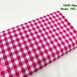 42-telas-de-algodón-100%,telas-infantiles,estampados-infantiles,telas-para-bebes,Vicky Algodón Cuadros Fucsia 1 Centímetro
