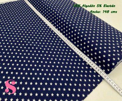 13-telas-por-metros,telas-de-camiseta,tejidos-de-punto-camiseta,tejidos-por-metros,telas-para-bebes,Punto Camiseta Jersey Estampado Estrellas fondo Marino